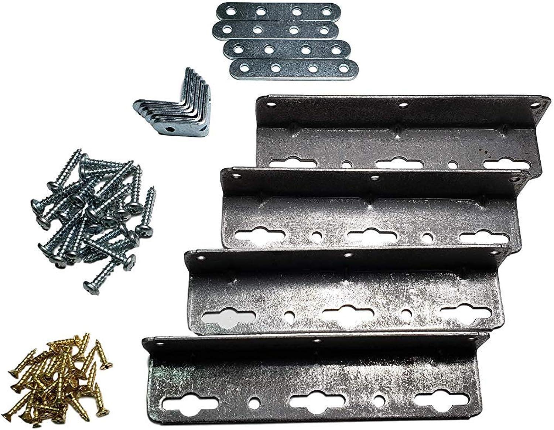 Waterbed Hardware Brackets & Screws California King, Queen & Super Single Hardside Wood Frame Water Beds