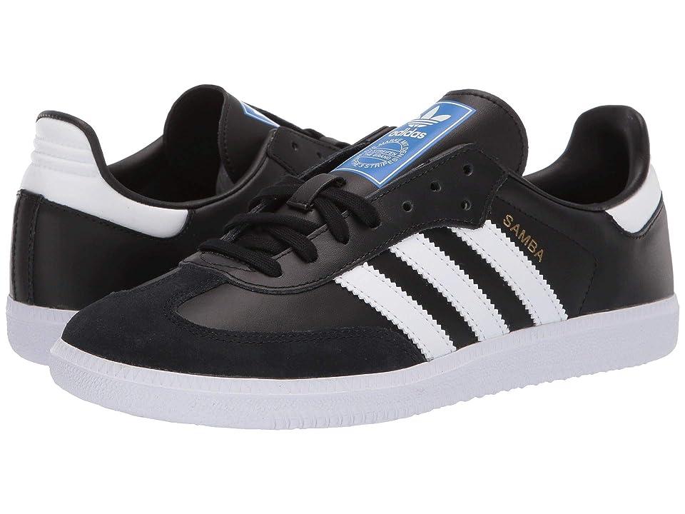 adidas Originals Kids Samba OG J (Big Kid) (Black/White) Kids Shoes