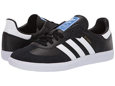 adidas Originals Kids Samba OG J (Big Kid) (Black/White) Kids Shoes