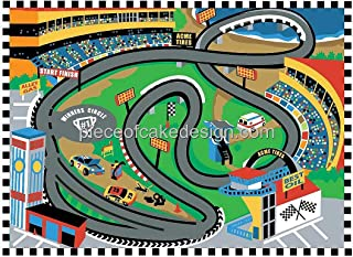 1/4 Sheet ~ Race Track Map From Above Birthday ~ Edible Cake/Cupcake Topper - D6026