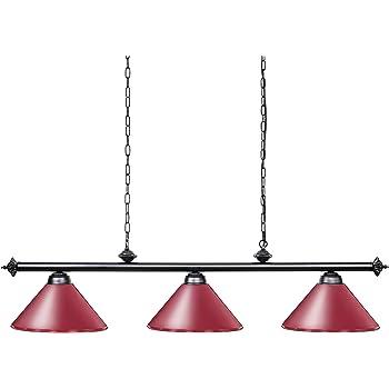 Wellmet Luz Para Mesa de billar con 3 Pantallas de lámpara de ...
