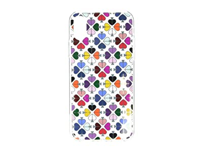 Kate Spade New York Foil Spade Phone Case for iPhone XS (Clear Multi) Cell Phone Case