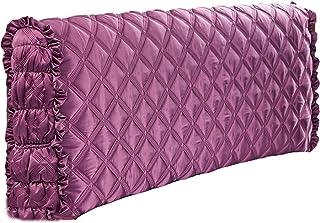MHCYKJ Cubierta para Cabecero De Cama Funda Elástica Cabeceros Polvo Jacquard Elástico Cabecera Protectora A Prueba (Color : Purple, Size : 180cm/71in)