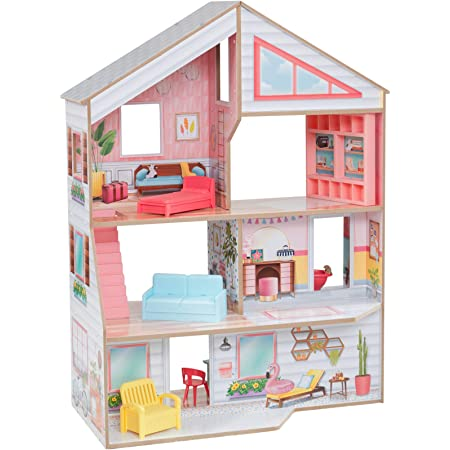BeebeeRun Montessori Wooden Dolls House Furniture Toys Set Country Play Kitchen for kids-the First Educational Wooden Sensory Toys for MyToddler【E20200115】