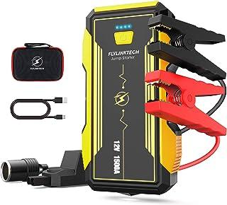 comprar comparacion FLYLINKTECH 1500A Arrancador de Coches, 16000mAh 12V Arrancador Baterias Coche Moto (hasta 8000cc Gas y 6000cc Diesel) Ban...