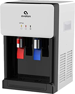 Avalon Countertop Self Cleaning Bottleless Water Cooler Water Dispenser - Hot & Cold Water, NSF Certified Filter- UL/Energy Star Approved- White