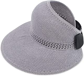 DORRISO Elegante Donne Cappello Tesa Larga Cappello Protezione UV Paglia da Cappello della Spiaggia Pieghevole Protezione Solare Cappello da Sole