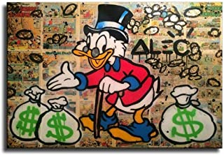 ALEC Monopoly Scrooge Dollars Wall Art Home Wall Decorations for Bedroom Living Room Oil Paintings Canvas Prints