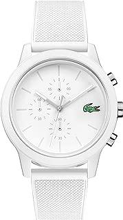 Men's TR90 Quartz Watch with Rubber Strap, White, 21 (Model: 2010974)