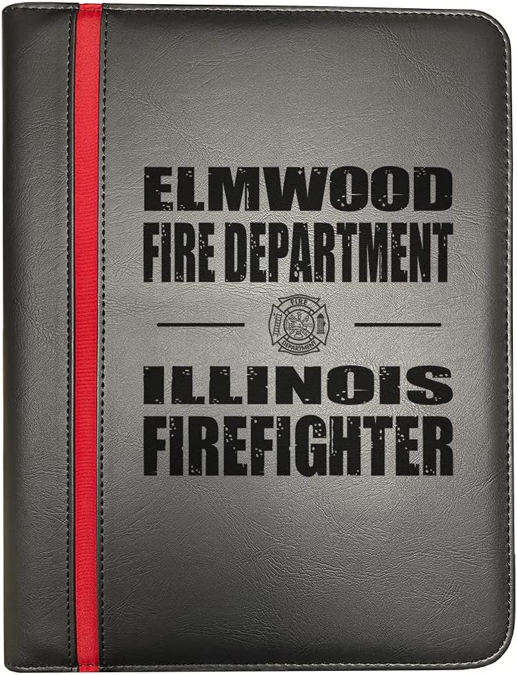 Elmwood Illinois Fire Departments Thin Long-awaited New product!! Line Red Firefighter