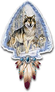 The Bradford Exchange Al Agnew Mystic Spirit Illuminated Wolf Art Wall Decor