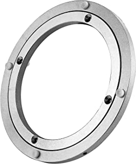 Lazy Susan Heavy Duty Aluminium Rotating Turntable Bearing Round Swivel Plate Hardware for Kitchen Dining-Table (8inch)