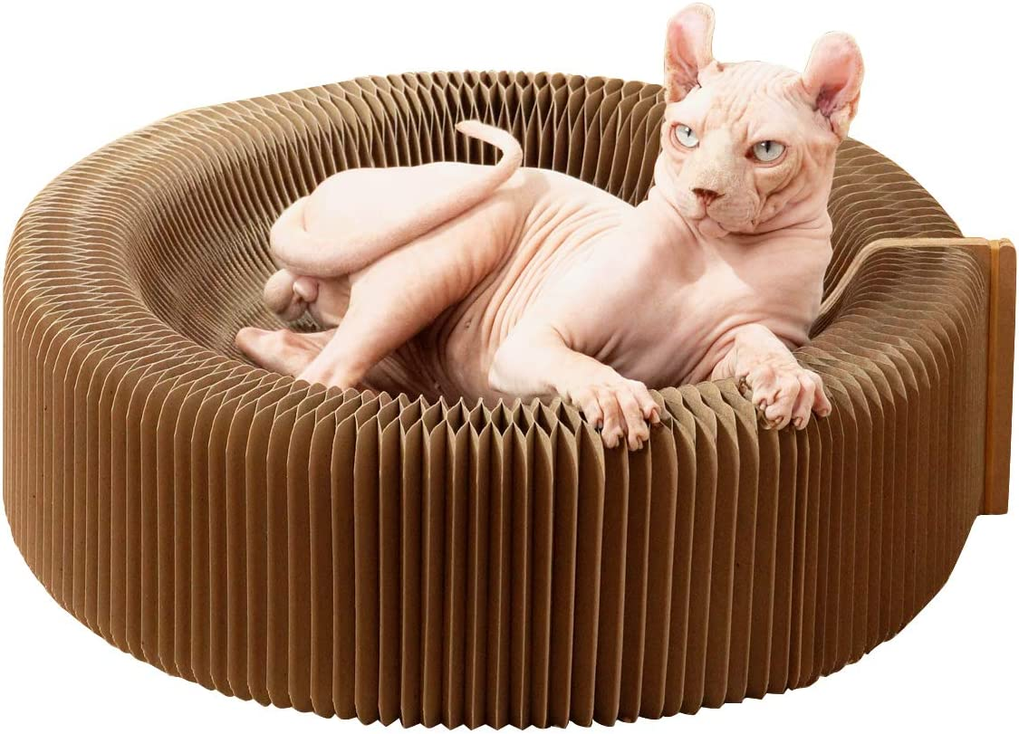 MewaJump Raleigh Mall Cat Scratcher Austin Mall Lounge Bed with Cardboard