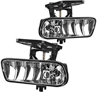 AUTOSAVER88 Fog Lights 899 12V 37.5W Halogen Lamp for GM095 /1999-2002 GMC Sierra/ 2000-2006 GMC Yukon Pickup Truck SUV (Clear Lens)