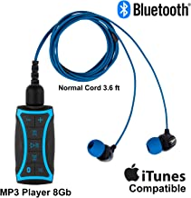 100% Waterproof Stream MP3 Music Player with Bluetooth and Underwater Headphones for Swimming Laps, Watersports, Normal Co...