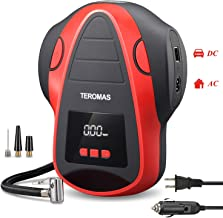 TEROMAS Tire Inflator Air Compressor, Portable DC/AC Air Pump for Car Tires 12V DC and..
