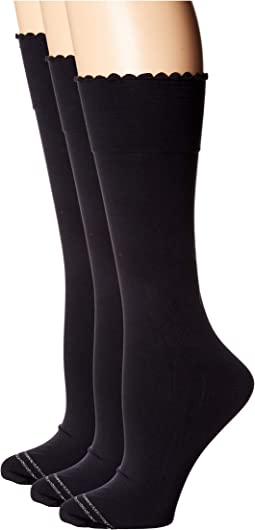 Graduated Compression Opaque Knee High Socks 3-Pair Pack