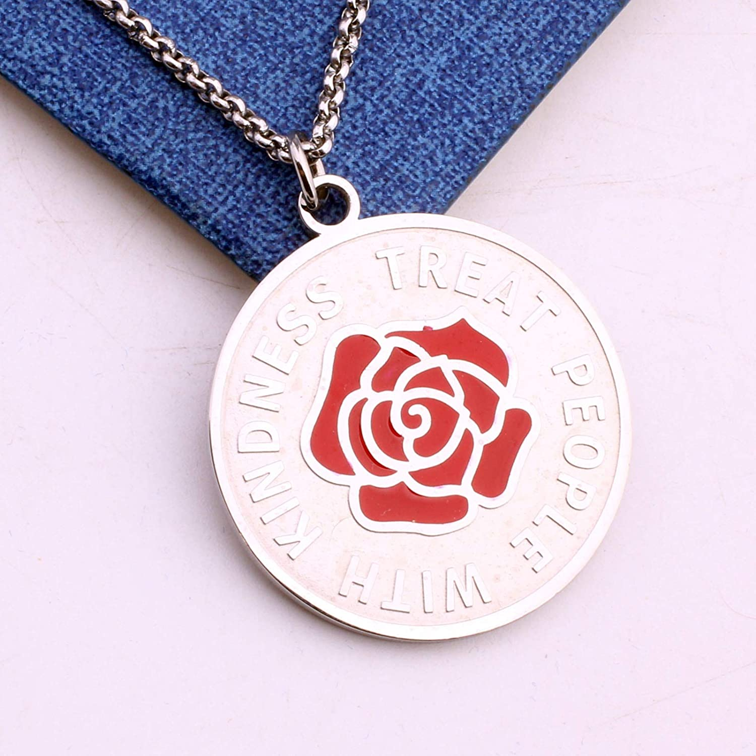 Treat People with Kindness Harry Necklace Jewelry Merch One Direction Gift