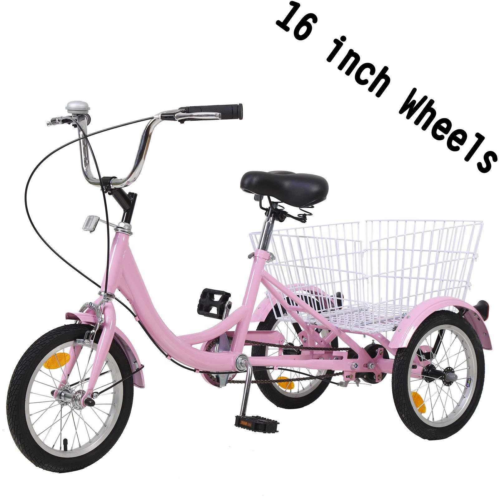 H&ZT Triciclo de 1 velocidad para adultos Trike Cruiser bicicleta ...