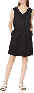 Amazon Essentials Women's Sleeveless Linen Dress