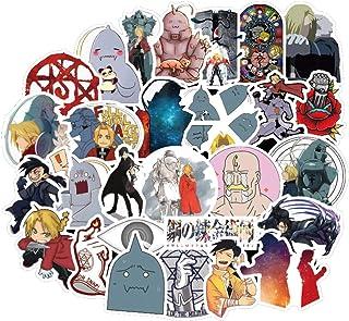 50Pcs Cartoon Anime Fullmetal Alchemist Stickers for Water Bottle Cup Laptop Guitar Car Motorcycle Bike Skateboard Luggage...