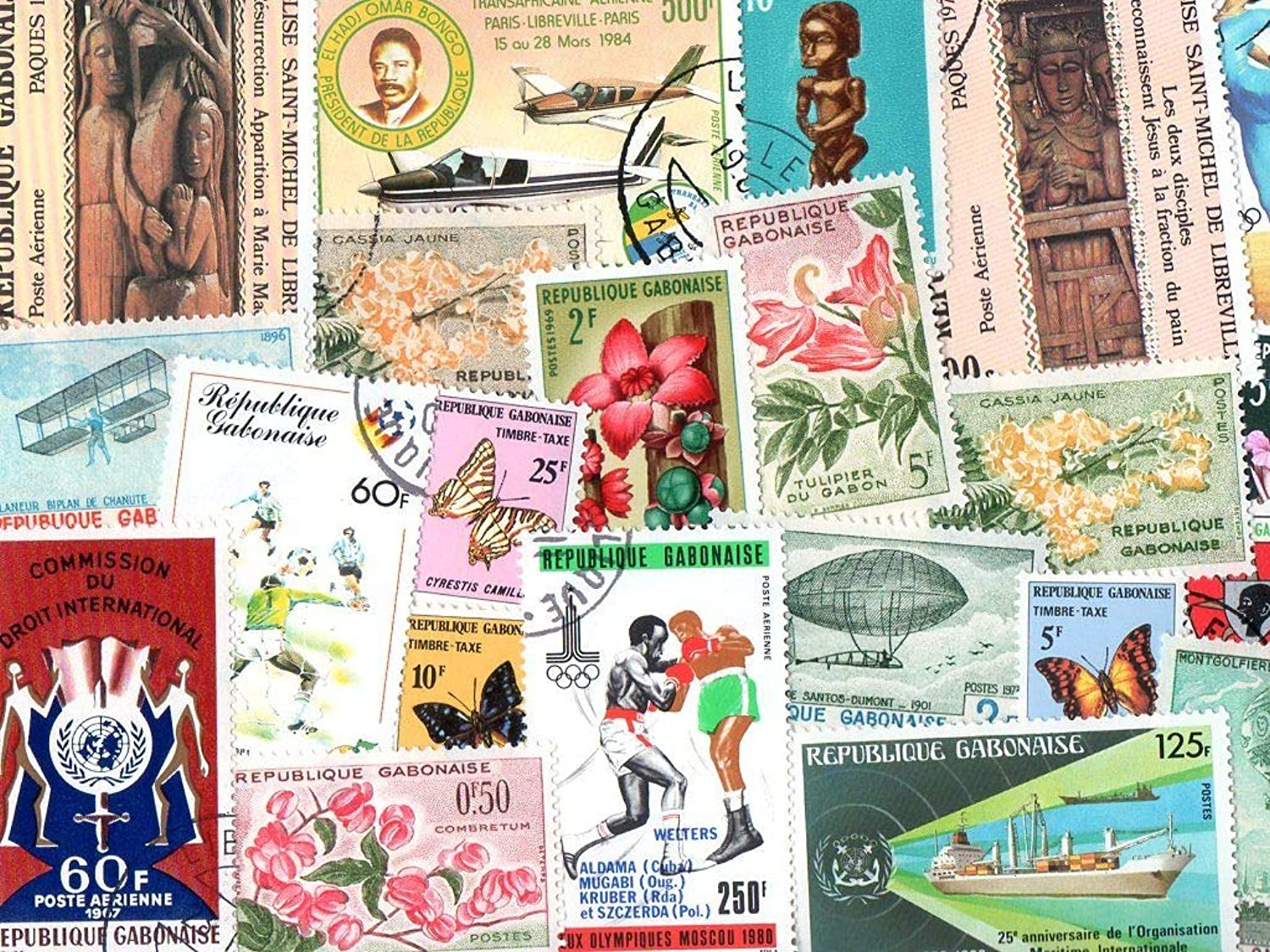 Gabon   200 Different Stamps Collection Mixture Packet Stamps For Collectors