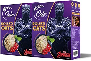 Oateo Rolled Oats 1kg (500 grams x 2 packs) - Wholegrain, High Fibre breakfast cereal