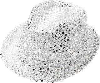 YiZYiF Cappello da Jazz Bambini Unisex Paillettes Cappello da Hip Hop Danza Glitter cap Solido del Cappello per Teatro Per...