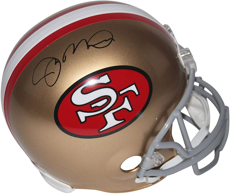Joe Montana Autographed Helmet  Full Size Rep BAS Witnessed  Beckett Authentication  Autographed NFL Helmets