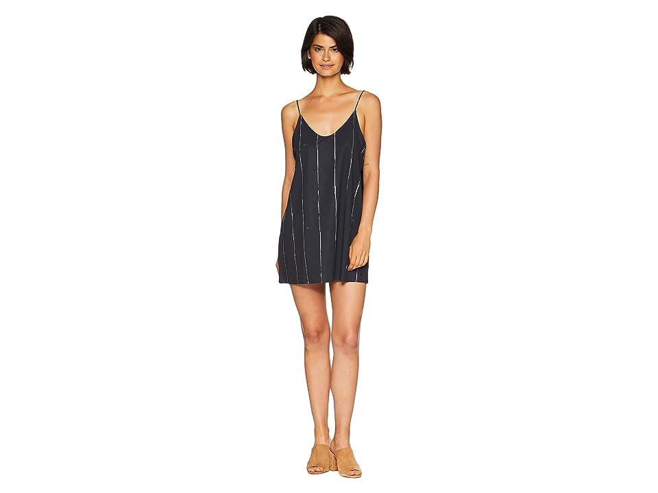Hurley Quick Dry Coastal Slip Dress (Black) Women