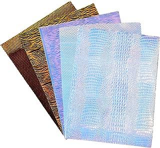 5 Pcs Zebra Stripe and Snakeskin Faux Leather Sheets 9