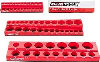 OEMTOOLS 22484 3 Piece Magnetic Socket Organizers, Socket Organizers for Toolboxes, Socket Organizer, Magnetic Socket Hold...