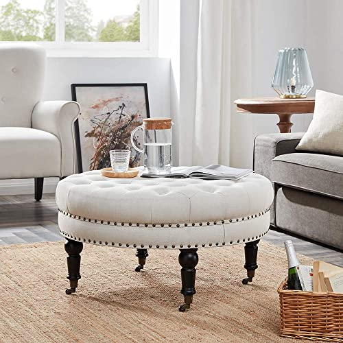 Round Tufted Ottoman Amazon Com
