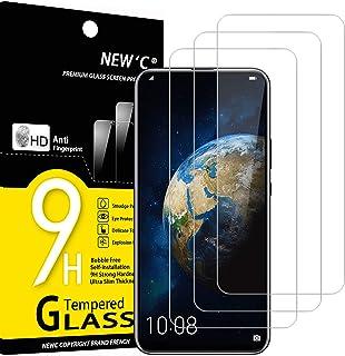 NEW'C 3-pack skärmskydd med Honor Magic 2 – Härdat glas HD klar 9H hårdhet bubbelfritt