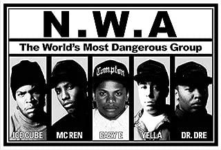 Buyartforless N.W.A. Lineup 36×24 Music Art Print Poster – Ice Cube – MC..