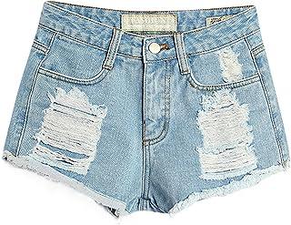 0f0f47eb8aa5a2 Amazon.fr : jeans femme taille haute - 44 / Shorts et bermudas ...
