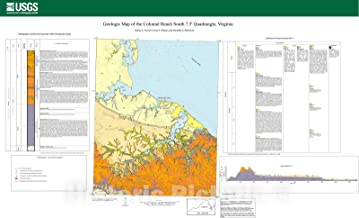 Historic Pictoric Map : Geologic map of The Colonial Beach South 7.5-Minute Quadrangle, Virginia, 2006 Cartography Wall Art : 24in x 16in