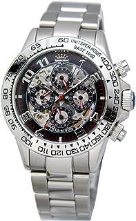 [ジョンハリソン]J.Harison 腕時計 自動巻き ブラック文字盤 JH-003RB メンズ
