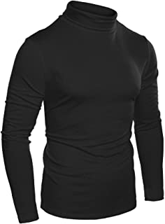 6aa8b7eba9bc COOFANDY Mens Slim Fit Basic Thermal Turtleneck T Shirts Casual Knitted  Pullover Sweaters