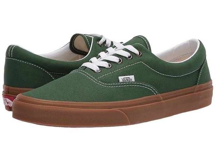 Mens Retro Shoes | Vintage Shoes & Boots Vans Eratm Gum Greener PasturesTrue White Skate Shoes $49.95 AT vintagedancer.com