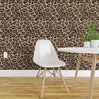 leopard print peel and stick wallpaper