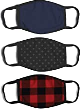 ABG Accessories Men's 3-Pack Adult Fashionable Germ Protection, Reusable Fabric Face Mask