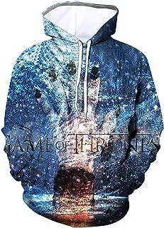 Winter is Coming Costume Game of Thrones Sweatshirt Got Jon Snow Hoodie White Walker Daenerys