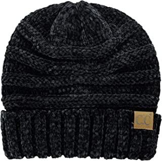 cf8f3c9ad8fa C.C Women's Chenille Oversized Baggy Soft Warm Thick Knit Beanie Cap Hat