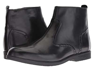 Hush Puppies Shepsky Zip Boot (Black Leather) Men