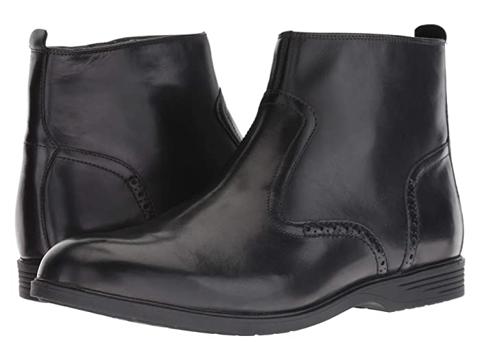 Steampunk Boots & Shoes, Heels & Flats Hush Puppies Shepsky Zip Boot Black Leather Mens  Boots $76.97 AT vintagedancer.com