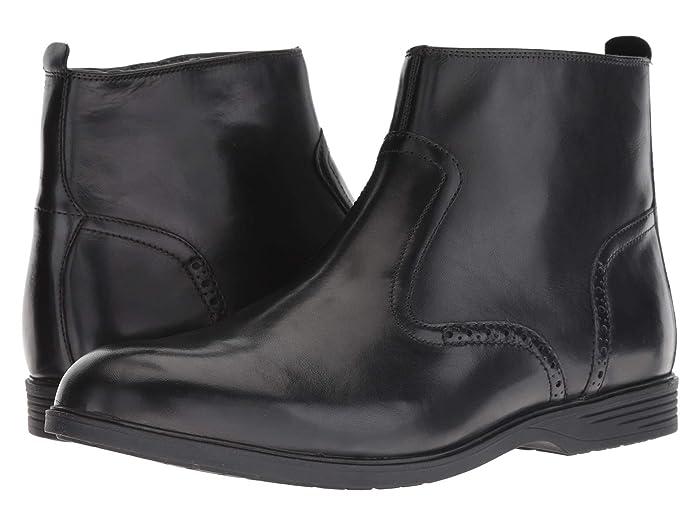 60s Mens Shoes | 70s Mens shoes – Platforms, Boots Hush Puppies Shepsky Zip Boot Black Leather Mens  Boots $76.97 AT vintagedancer.com