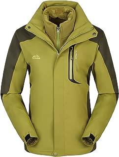 Women's&Men's Windproof Softshell Fleece Waterproof Ski Jacket 3 in 1 Outdoor Sports Coat(WM168)