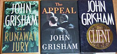 Set of 3 John Grisham First Edtion (The Runaway Jury, The Appeal, The Client) Hardback