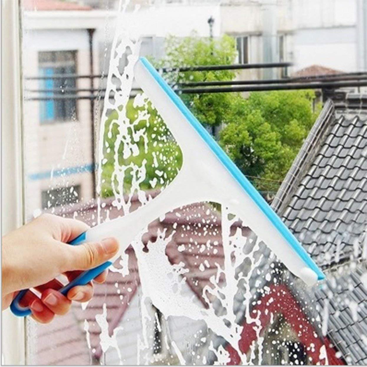 Tellaboull Práctico Limpiador de Jabón de Limpiaparabrisas De Ventana Suave Hoja de Silicona Ducha del Cuarto de Baño Espejo Rascador Limpiaparabrisas de Coche: Amazon.es: Hogar